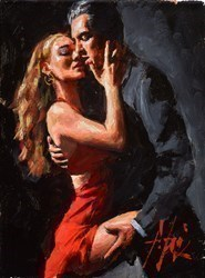 Study for Tango en San Telmo III (Wearing Red) by Fabian Perez -  sized 9x12 inches. Available from Whitewall Galleries